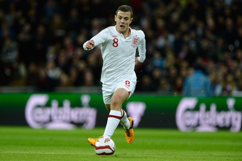 Jack Wilshere wears the last ever Umbro shirt for England
