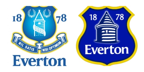 Everton's crest - old and new