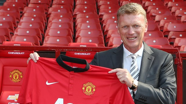 David Moyes takes over at Manchester Utd.