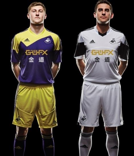 Swansea Home and Away Shirts