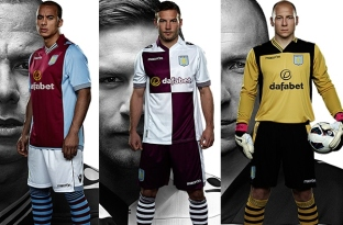 Aston Villa Kit - Home and Away
