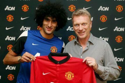 Marouane Fellaini signs for Manchester United